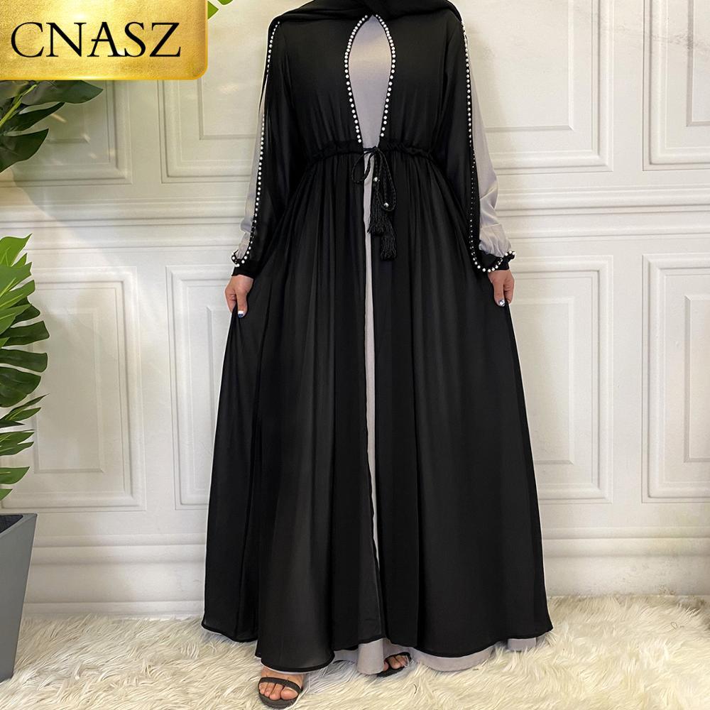 Latest High Quality 2 Piece set Dress For Muslim Women Robe Femme Hiver Fashion Beautiful Muslim Dress Women Musulman Ensembles