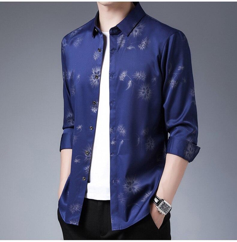 Hc47d5469af294b078699a9166d4ba7d2T 2020 Brand Long Sleeve Men Social Shirt Streetwear Casual Dandelion Shirts Dress Mens Slim Regular Fit Clothes Fashions 80503