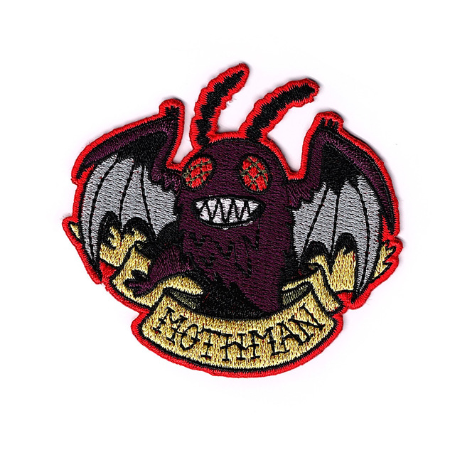 MOTHMAN Embroidered Patches Iron On Patch For Clothing Accessories