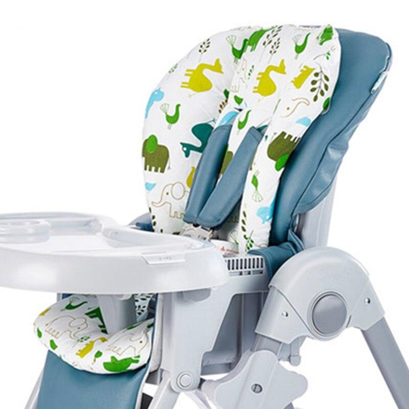 Bebê crianças highchair almofada almofada tapete de almofada assentos de reforço almofada esteira de alimentação cadeira cushi na almofada carrinho de criança almofada de tecido de algodão