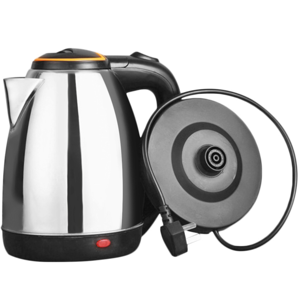 2L 1500W Water Electric Kettle Stainless Steel Electric Kettle Auto-Off Function Water Heating Kettle Electric Teapot Bollitore