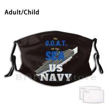 G.o.a.t. Моющаяся маска Pm2.5 с фильтром для взрослых и детей, маска «сделай сам» для флота, корабля, матери, носителя, моряка, работ, лодка, Джет, F 18 ...