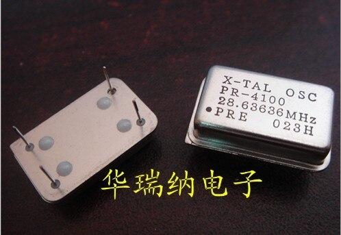 5pcs 100% New And Orginal Oscillator In-line Active Crystal Oscillator OSC Rectangular Clock DIP-4 28.6363MHZ 28.636M
