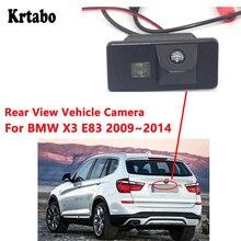 цена на Krtabo For BMW X3 E83 2009 2010 2011 2012 2013 2014 Waterproof Night Vision Car Rear View Back Up Reverse Parking Camera