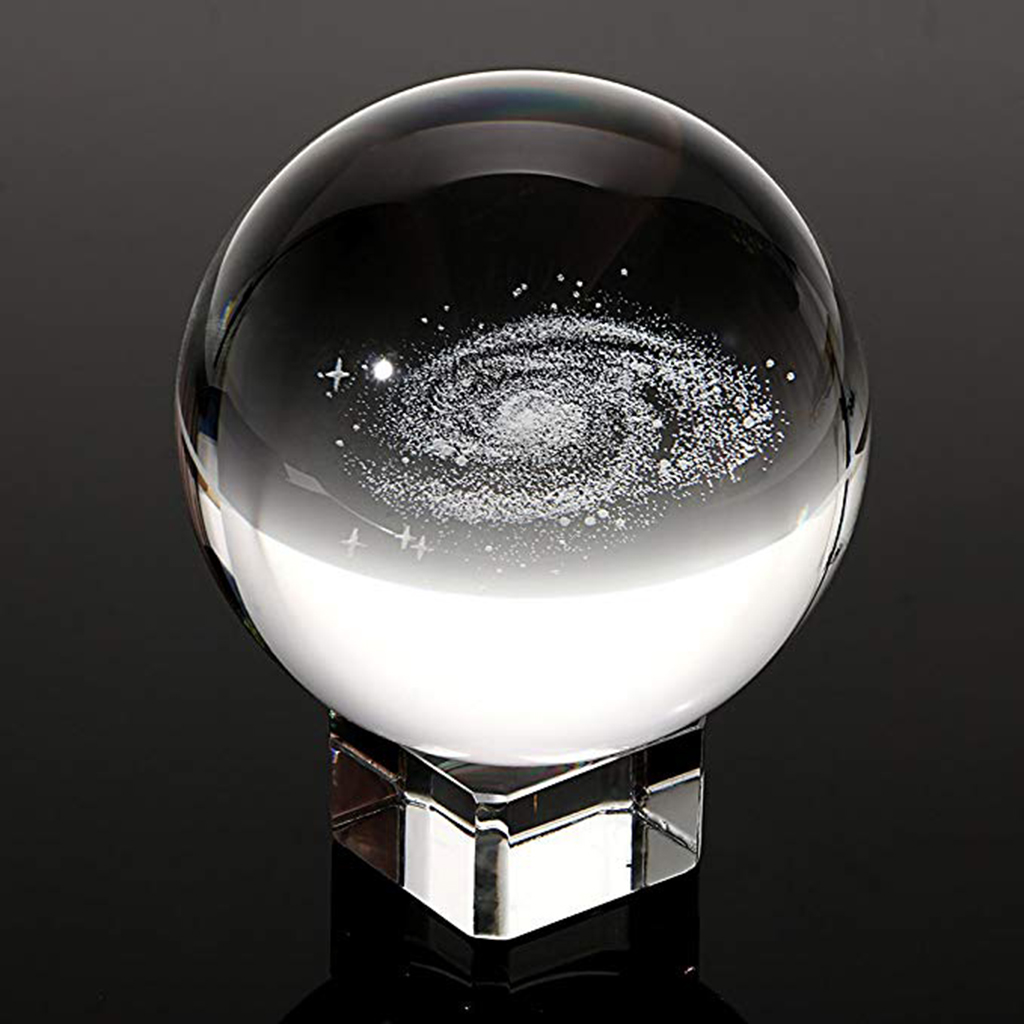 3.15 Inch Clear Galaxy Glass Crystal Ball Educational Astronomy Science Toy
