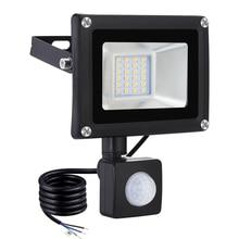 20W LED Floodlight Garden Spotlight PIR Motion Sensor Adjustable Floodlight IP65 Waterproof Outdoor Wall Lamp Night Light 1600LM