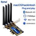 Fenvi T919 1750Mbps PCIe Desktop Wifi Karte BCM94360CD Für macOS Hackintosh 802,11 ac Bluetooth 4,0 Dual Band Wireless Adapter