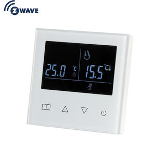 Haozee Z Wave Plus Smart Thermostat Temperature Controller for WaterElectric floor Heating with LCD Touch Screen
