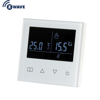 IN STOCK Z Wave Plus Smart Thermostat Temperature Controller for Water/Electric floor Heating with LCD Touch Screen lcd touch screen smart wifi big digital temperature thermostat touch screen warm floor heat controller thermostat