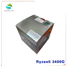 NEW AMD Ryzen 5 3400G R5 3400G 3.7 GHz Quad Core Eight Thread 65W CPU Processor YD3400C5M4MFH Socket AM4 With Cooler Cooling Fan