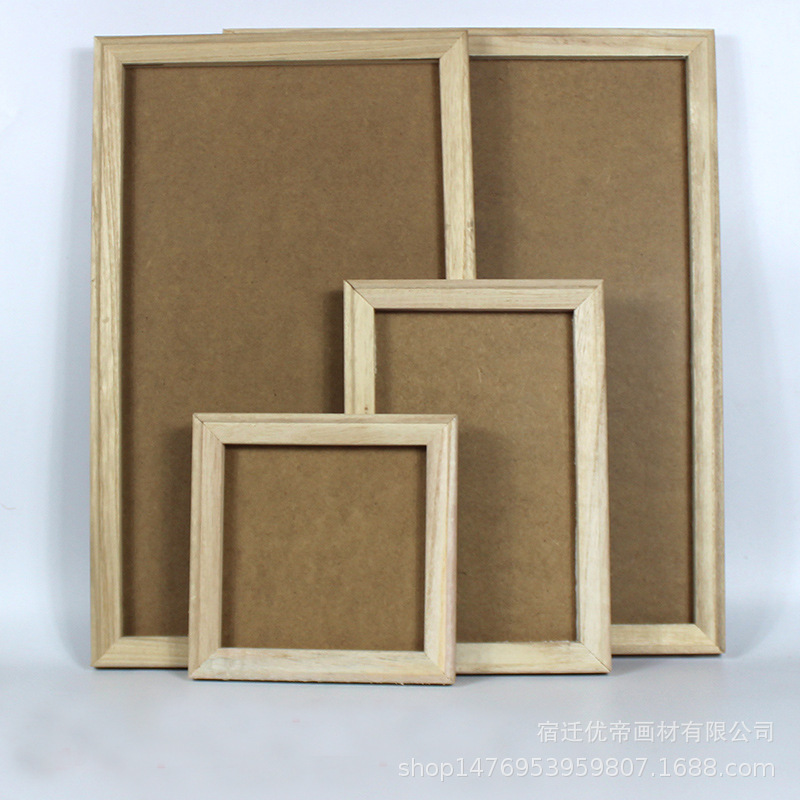 Children Handmade DIY Wood White Base Snow Mud Pearl Ultra-Light Clay Frame Preschool Education Clay Painting Frame