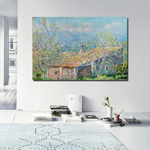 Claude Monet Cabin Canvas Painting Prints Wall Pictures For Living Room Home Decor Modern Wall Art Oil Painting Posters Pictures claude monet in the morning canvas painting print living room home decoration modern wall art oil painting posters pictures art