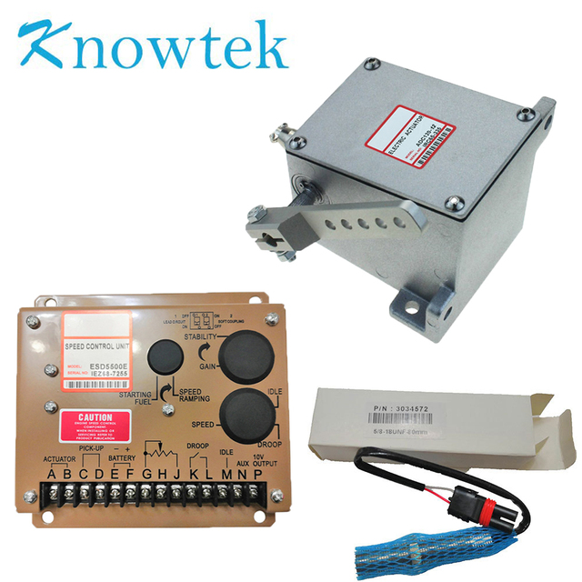 1 set Generator Actuator ADC120 12V/24V with Governor ESD5500E with Pickup Sensor 3034572For Diesel Generator