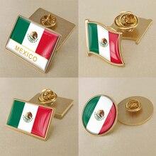 Герб Мексика Мексиканская карта Национальный флаг Эмблема с национальным цветочным брошь значки нагрудные знаки