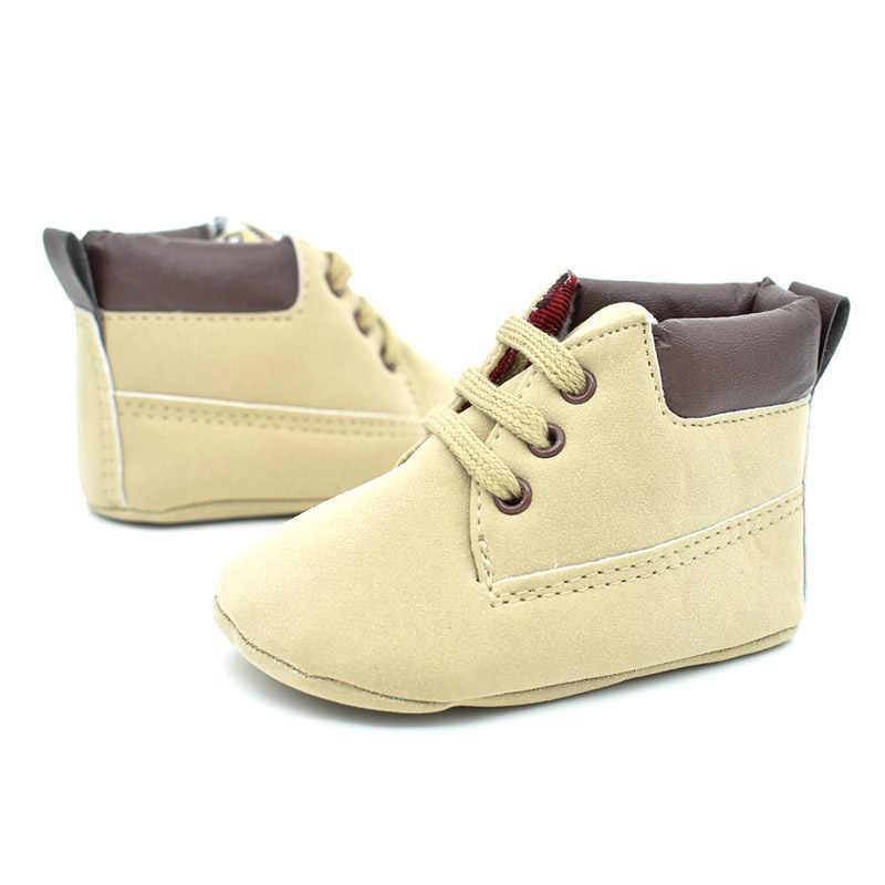 מוצק נעליים שזה עתה נולדו יילוד החלקה תינוק ילדה ילד נעלי תינוקות פעוטות הראשונה ווקר רך נעלי תינוק schoenen Slofjes