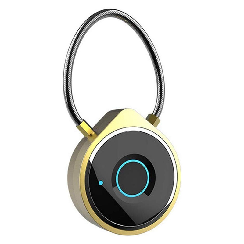 Fingerprint Padlock Smart Padlock Biometric Suitable For Gym Sports Bike School Cabinet And Storage Portable Smart Box Lock Lugg