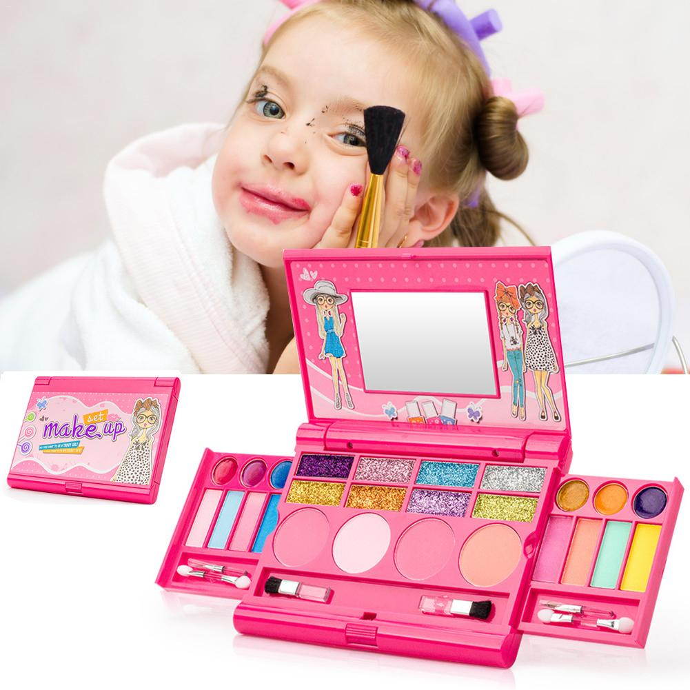 New Hot Sale Makeup Toys Baby Girls Pretend Play Safe Kids Girls Makeup Kit Toy Cosmetics Play Sets Best Gifts For Children Chil