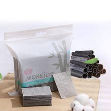 222pcs Bamboo Charcoal Facial Cotton Pads Disposable Nail Makeup Cosmetic Remove