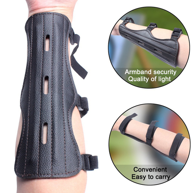 Archery Equipment Arm Guard Protection Forearm Safe Adjustable Bow Arrow Hunting Shooting Training Accessories Protector 2