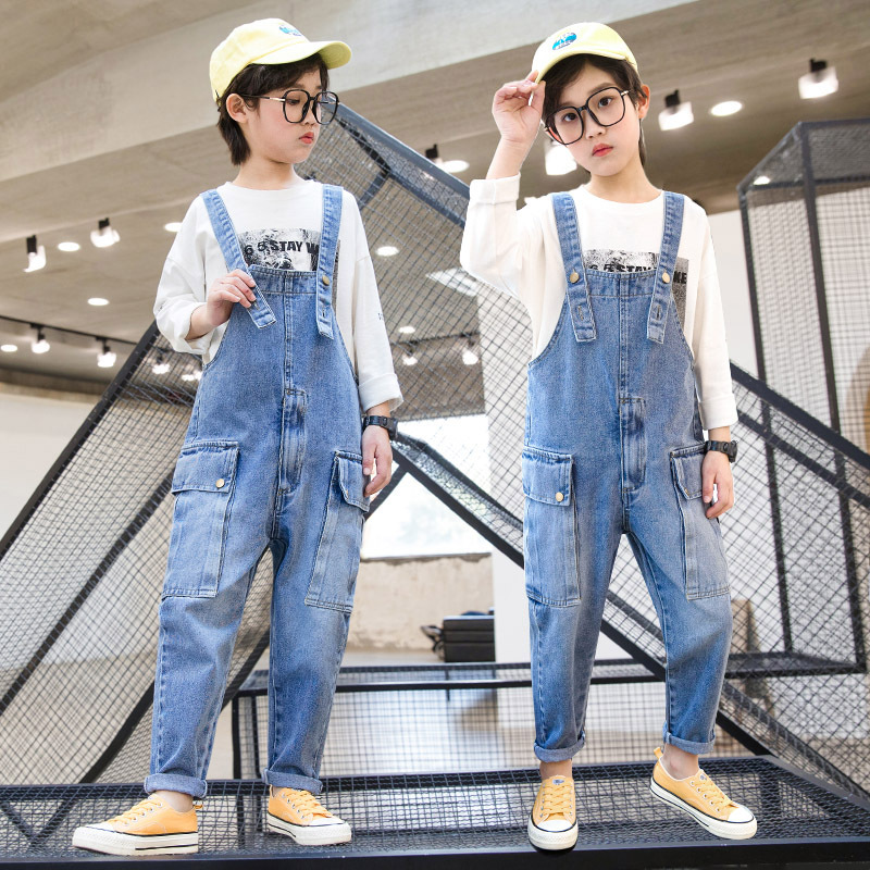 Jean Overalls Boys Jeans Teens Overalls Rompers 6 7 8 9 10 11 12 13 14 Years School Denim Jumpsuit Pants Overalls for Big Boys