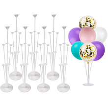 Balloon-Stand-Kits Flower-Clips Clear Including for Table Glue-Tie-Tool