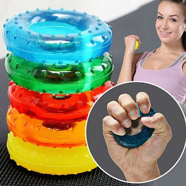 Tcare 1Pcs Body Massage Relaxation Hand Grip Strengthener Exercisers Resistances Perfect Increasing Hand Finger Wrist Forearm 6