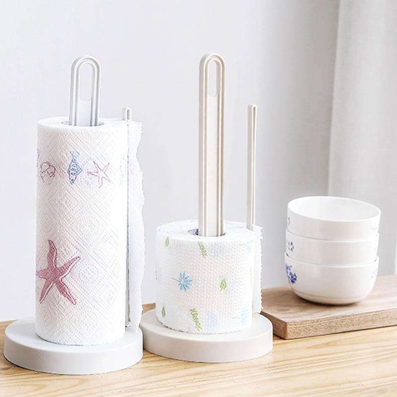 Desktop Accessories Kitchen Racks Punch - Free Portable Vertical Roll Holder  Plastic Napkin Shelf Paper Storage Rack