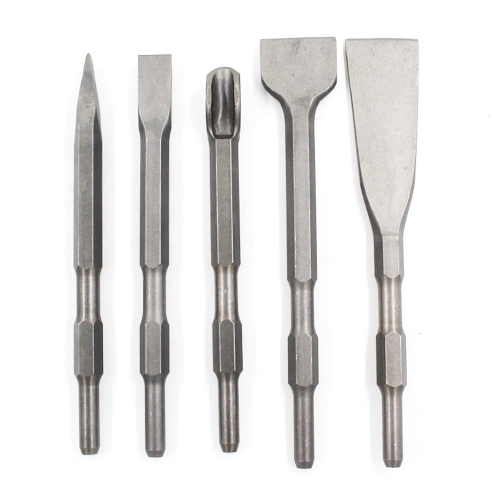 Round Shank Pointed Flat Chisel U-Shaped Chisel Concrete Electric Hammer Drill Bit Electric Shock Widened Flat Chisel