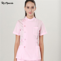 Women and Men Scrub Sets Summer Wear Medical Doctor Lab Coat Nurse Clothes Hospital Uniforms Workwear Top and Pants Cheap Suits