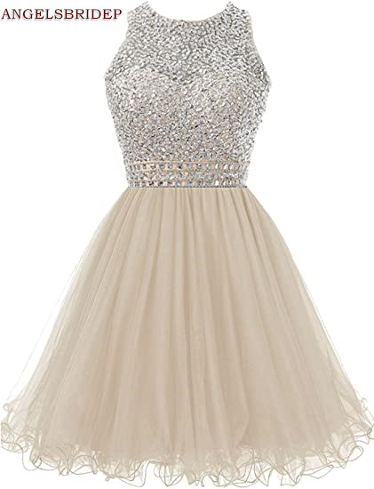 ANGELSBRIDEP-High-Neck-Homecoming-Dresses-Sparkly-Crystal-Beading-Vestidos-de-festa-Tulle-Formal-Graduation-Formal-Party