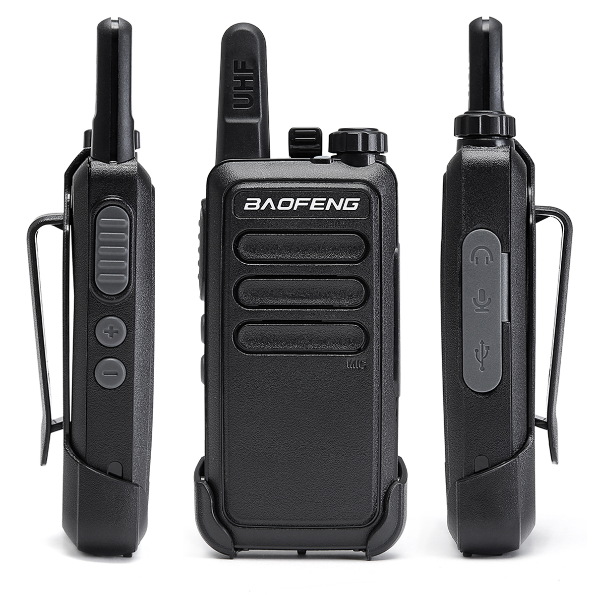 Image 2 - 2 Pcs Baofeng BF C9 Portable Radio Mini Walkie Talkie 400 470MHz UHF VOX USB Charging Handheld Two Way Ham Radio CommunicatorWalkie Talkie   -