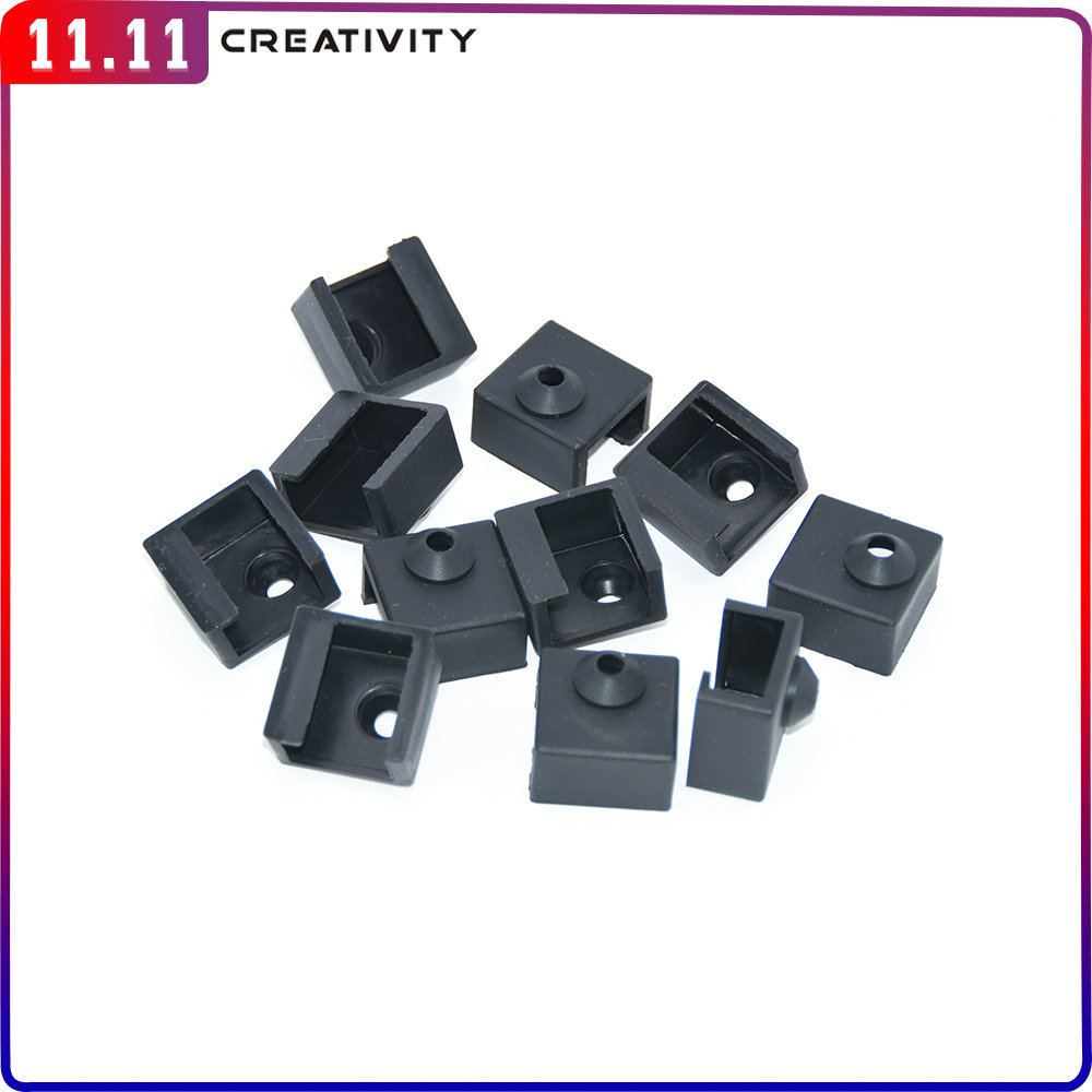 MK8 Silicone Sock Upgrade For Cover Aluminum Block MK7-MK8 Silicone Case Sleeve Use 3D Printer Ender
