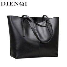 DIENQI yüksek kaliteli büyük kapasiteli hakiki deri omuz çantaları kadınlar için 2020 lüks moda kadın çantaları siyah sac ana