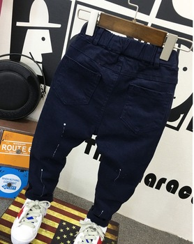 fashion baby clothing 2-7years baby boys soft jeans trousers Kids jeans blue casual pants spring autumn trousers denim 3