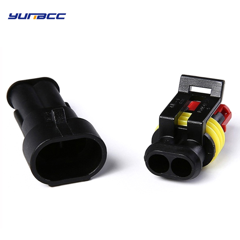 5 Sets 2 Pin/way Female Male AMP SuperSeal 282104-1 282080-1 Waterproof Electrical Automotive Connector Plug For Car