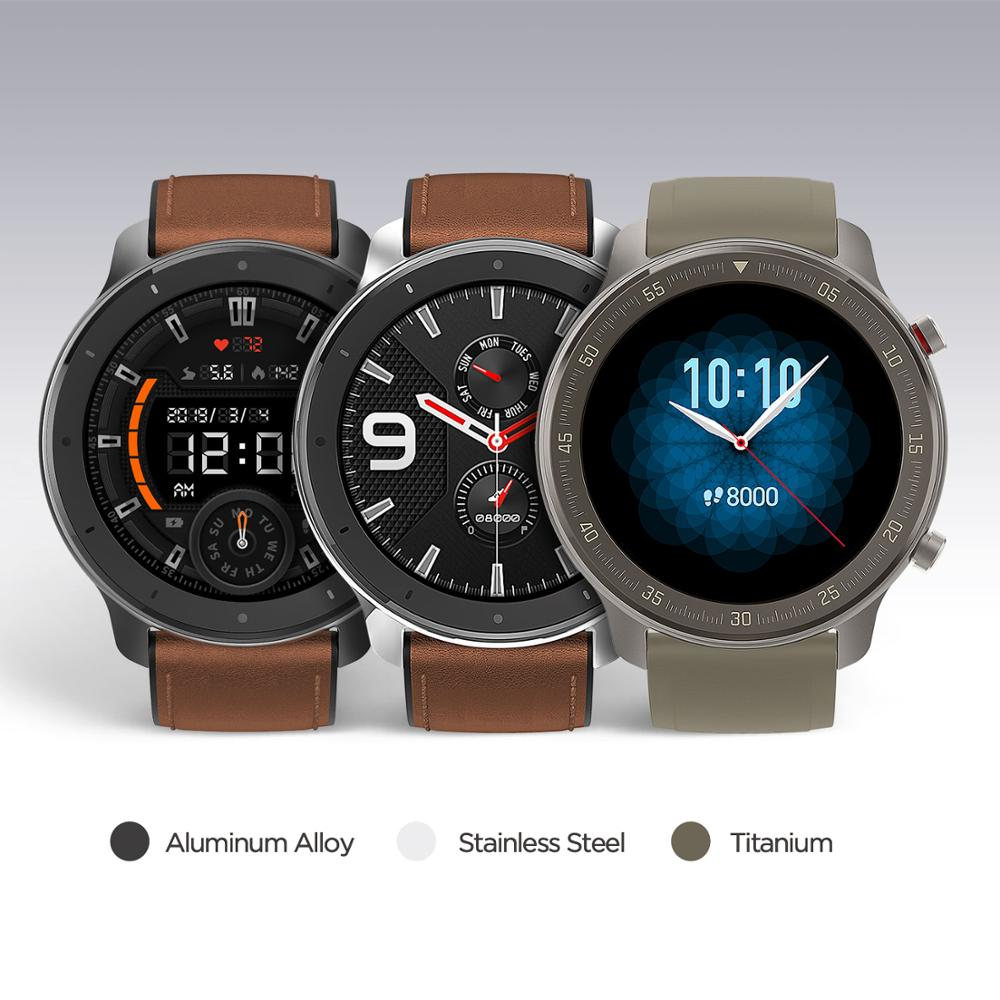 Image 2 - Global Version Amazfit GTR 47mm Smart Watch 5ATM Waterproof Smartwatch 24Days Battery Music Control Leather Silicon Strap-in Smart Watches from Consumer Electronics