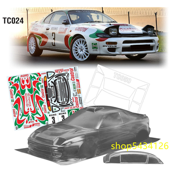 Team C TC024 Unpainted Body Shell With Decals Stickers For 1/10 Toyota Celica GT-Four Rc Drift On Road Toys Car 190mm image
