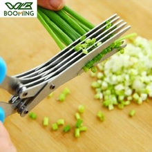 Scissor Vegetable-Cutter Laver Kitchen Cook-Tool Herb Chopped Shredded Multifunctional