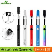 원래 airistech airis quaser 키트 왁스 기화기 qcell 석영 코일 dab vape 펜 dab 마우스 피스 전자 담배와 350 mah 배터리