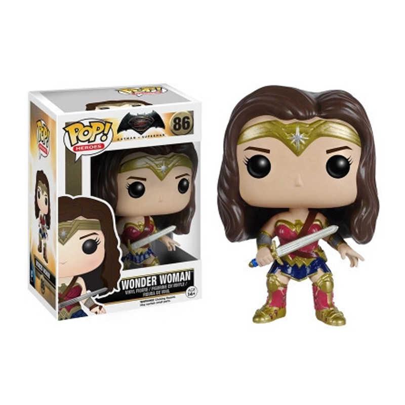 Funko pop justice alliance Batman cud kobieta flash butelka vinyl action model lalki zabawka dla dzieci urodziny prezent na boże narodzenie