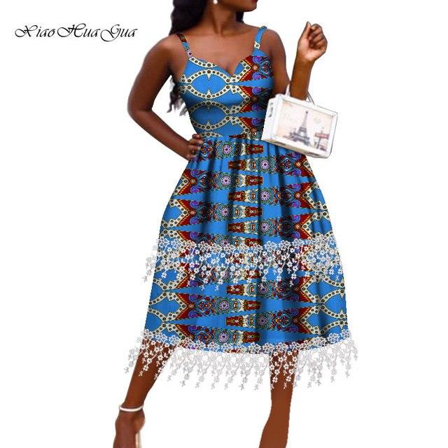 Фото женское платье в африканском стиле модное анкары с открытыми