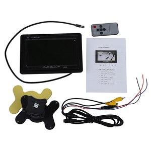 """7 """"автомобильный TFT цветной монитор для VCD DVD GPS камера заднего вида + пульт дистанционного управления"""