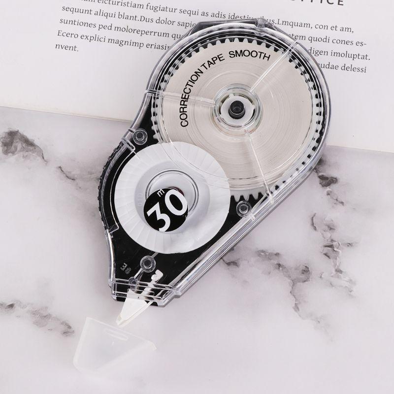 5 pçs/set fita de correção prática rolo 30m longo branco adesivo estudo papelaria escritório ferramenta material escolar r9ua