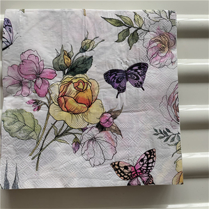 Image 5 - Decoupage table paper napkins elegant tissue vintage towel flower butterfly stamp birthday wedding party home beautiful decor 20