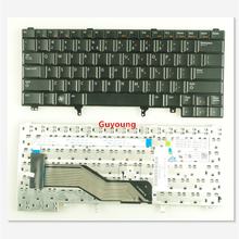 New US keyboard for Dell Latitude E6220 E6230 E6430s E6420 0C7FHD English without Point Stick black(China)