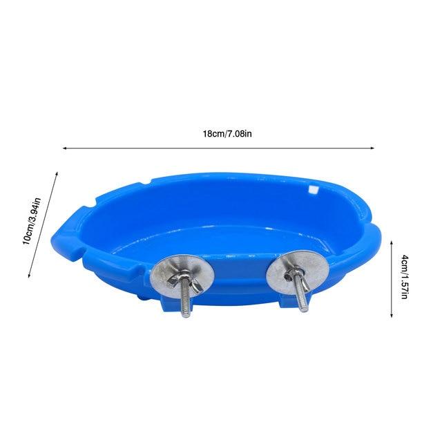 Splash Parakeet Cage Bird Bath Feeder   3