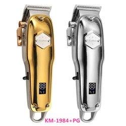 Kemei elektryczna maszynka do włosów KM-1984 + PG cordless profesjonalna akumulatorowa maszynka do włosów maszynka do strzyżenia metalu