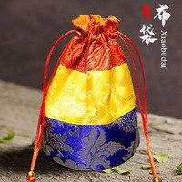 Buddha Bead Bag Jewelry Bags Buddhism Supplies Antique Bag Tibetan Sachet Portable Bucket Storage Bag Tibetan Jewelry Bag