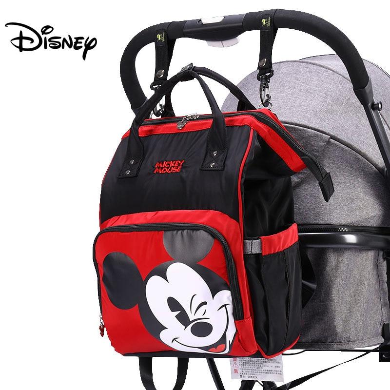 Disney Diaper Bag Backpack Baby Bags For Mom USB Travel Wet Nappy Boy Girl Diaper Organizer Mickey Minnie USB Newborn Mouse