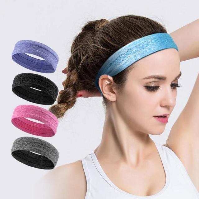 Fitness yoga hair bands jogging running sports sweat-absorbent belt silicone non-slip antiperspirant headband sports scarf belts